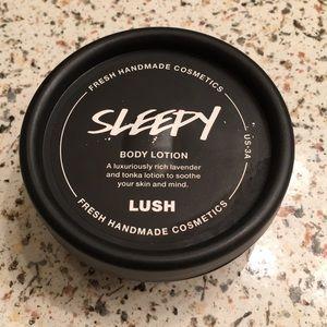 "Lush ""Sleepy"" lotion 1.5oz"